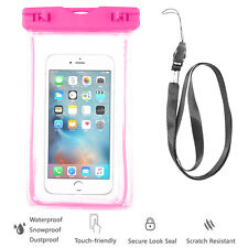 Pink Waterproof Case Cell Phone Dry Bag+Strap-iPhone 7 Galaxy S8 All Smart Phone