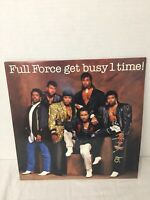 """Full Force """"Get Busy 1 Time!"""" LP (1986) Holland Press CBS Records"""