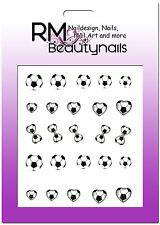 Nagel Sticker Fussball EM WM Ball Herz Nailwrap BLE1644