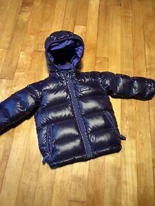 Patagonia hi loft down hoody jacket Purple size 12 toddler.