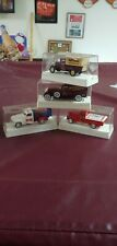 Set 4 Budweiser Golden Age Series Die Cast Metal cars & Trucks in cases Rare