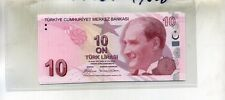 TURKEY 2009 10 LIRA CURRENCY NOTE LOT OF 5 CONSECUTIVE CU 4963D