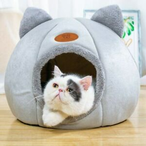 Removable Cat Bed Dog House with Mattress Warm Soft Kennel Sleeping Kennel New