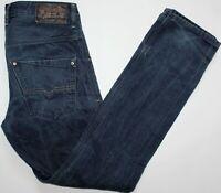 Diesel Krooley 0801W Slim Carrot Jeans - 32 W / 32 L - Dark Blue Denim - Mens
