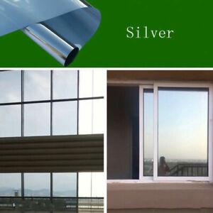 Mirror Reflective One Way Solar Window Film Foil Insulation Sticker Privacy Home