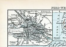 "Berlin 1886 kl. orig. Bei-Karte ""Lage der Bahnhöfe"" Ringbahn Alexanderplatz"