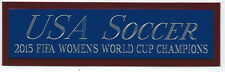 2015 FIFA WORLD CUP USA WOMEN'S SOCCER NAMEPLATE AUTOGRAPHED SIGNED BALL-PHOTO