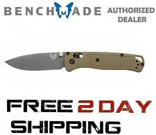 Benchmade Bugout 535GRY-1 Plain Edge/Green Handle, Drop-Point