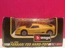 BURAGO SUPERBE FERRARI F50 HARD TOP 1/43 EN BOITE K7