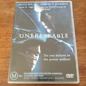 Unbreakable Bruce Willis DVD R4 Like New! FREE POST