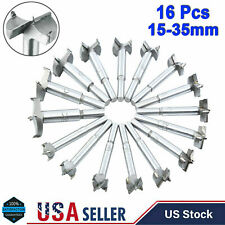 16Pcs Forstner Woodworking Drill Bit Set Boring Hole Saw Cutter Wood Tool