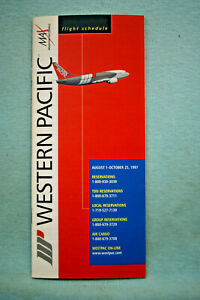 Western Pacific Airlines Timetable, Aug 1 - Oct 25, 1997