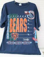 """Chicago Bears Tee Shirt XL Cotton USA  Salem Sports """"Aerial Assault"""" NFC"""