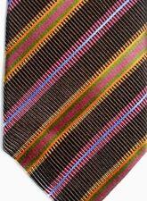 "J.Z. Richards Men's Silk Tie 60"" X 4"" Multiple Color British Stripes"