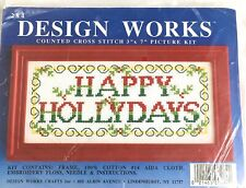 """""""Happy Hollydays"""" Counted Cross Stitch Kit"""