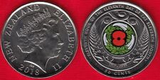 "New Zealand 50 cents 2018 ""Centenary of the 1918 Armistice"" Colored UNC"