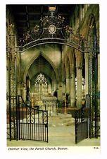 Lincolnshire - Boston, The Parish Church - Vintage Postcard