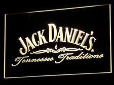 Jack Daniels Whiskey Drink Fan LED Neon Light Sign Plate Flag Bar Club Pub Gift