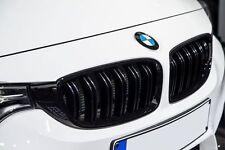 2 GRILLE DE CALANDRE NOIR BRILLANT DOUBLE LAME BMW SERIE 3 F30 ET F31