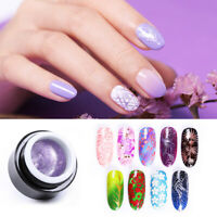 BORN PRETTY 5ml Stamping Soak Off UV Gel Blue Shiny Powder Glitter Nail Art Gel