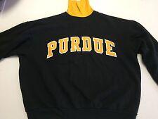 Vintage PURDUE BOILERMAKERS Majestic Sweatshirt Black Size XL Sewn in Lettering