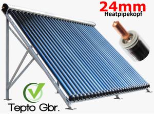 Röhrenkollektor 30 Röhren 4,7m² Solarkollektor Solaranlage Heatpipe 24mm Solar