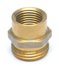 "1/2"" Female NPT to 3/4"" Male GHT Garden Hose Thread to Female Pipe Adapter Brass"