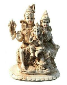 Shiva Family Statue. Lord Shiva, Parvati, Ganesha God and Goddess.