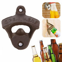 Home Cast Iron Vintage Rustic Style Collectable Wall Mounted Beer Bottle Opener