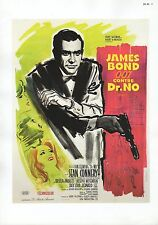 "2002 Vintage JAMES BOND ""CONTRE DR. NO"" FRENCH MINI POSTER Art Plate Lithograph"