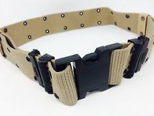 New USMC military Large web equipment desert tan war battle belt harness pistol
