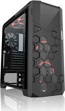 Azza Full Tower Case with 4xHURRICANE RGB Fan Cases CSAZ-6000RGB Storm, Black