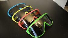 NOS Set of 4 Polarized Vintage 80s Neon Razor Sunglasses Beach Blades Skiing