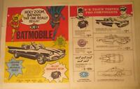 Aurora K&B Batmobile, Hellcat Sidewinder Motor, Cortina Brake Ad 2 Pg Color Copy