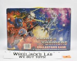 Vinyl Collectors Case #2 W/Tray 1984 Tara Toy Corp. G1 Transformers Vintage