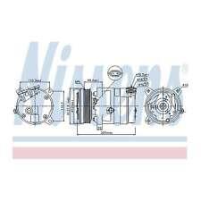 Fits Vauxhall Astravan MK3 1.4i Genuine Nissens A/C Air Con Compressor