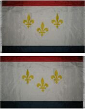 3x5 City of New Orleans Louisiana Premium Quality Poly Flag 3'x5' House Grommets