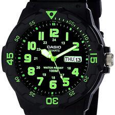 Reloj Nuevo Casio MRW-200H-3BV Hombres Análoga 100m WR Día Fecha Resina