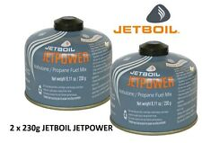 2 x Jetboil Jetpower Fuel 230g Camping Gas Isobutane Propane Fuel Mix