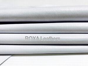 ROXA Lambskin White Hide Sheep Lamb Nappa Crafts 6 SqFt Soft Solid Leather Skins