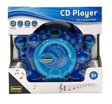 Idena 40284 CD Player für Kinder Sing Along zwei Mikrofonen für Karaoke Blau