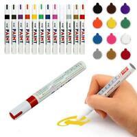 12 Farben Lackmalstift Kit Fine Paint Art Marker Pen Metall Wasserdicht NEUE