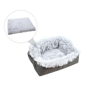 1PC Plush Pet Dog Cat Bed Fluffy Soft Warm Calming Bed Sleeping Kennel Nest
