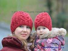 Knitting Pattern-Valentine Cable Hat (de bébé de taille adulte)