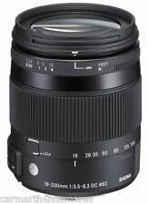 Sigma 18-200mm F/3.5-6.3 DC 'C' Macro OS HSM Lens fits Nikon NEW Contemporary