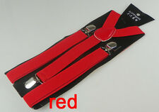 Men/Women's Unisex Adjustable Clip-on Braces Y-back Elastic Suspenders