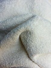 Organic Unbleached Natural Bamboo Double Loop Terry Cloth Fabric - By the Yard