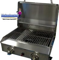 New Portable Stainless Steel BBQ LP RV Grill Stove by Members Mark