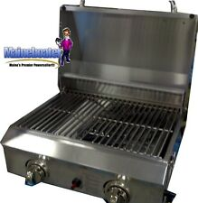 Portable Stainless Steel BBQ LP RV Grill Stove by Members Mark Camping RV NEW