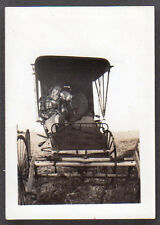 1937  TWO LADIES CUDDLE IN A BUGGY original photograph print